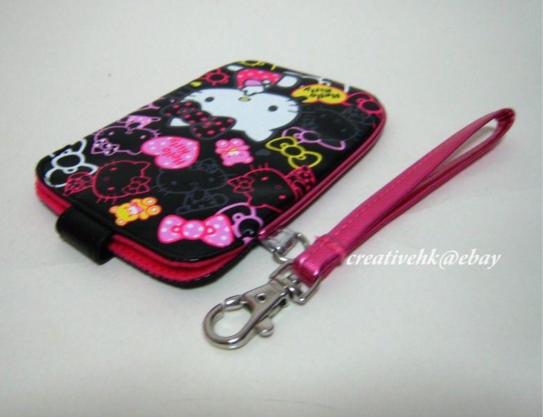 Sanrio Hello Kitty Black Mobile Cell Phone, Digital Camera  PU