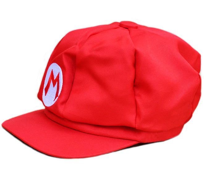 Red Mario BM Cap Hat Sports Breakin Popping Boy Red Hiphop Hat