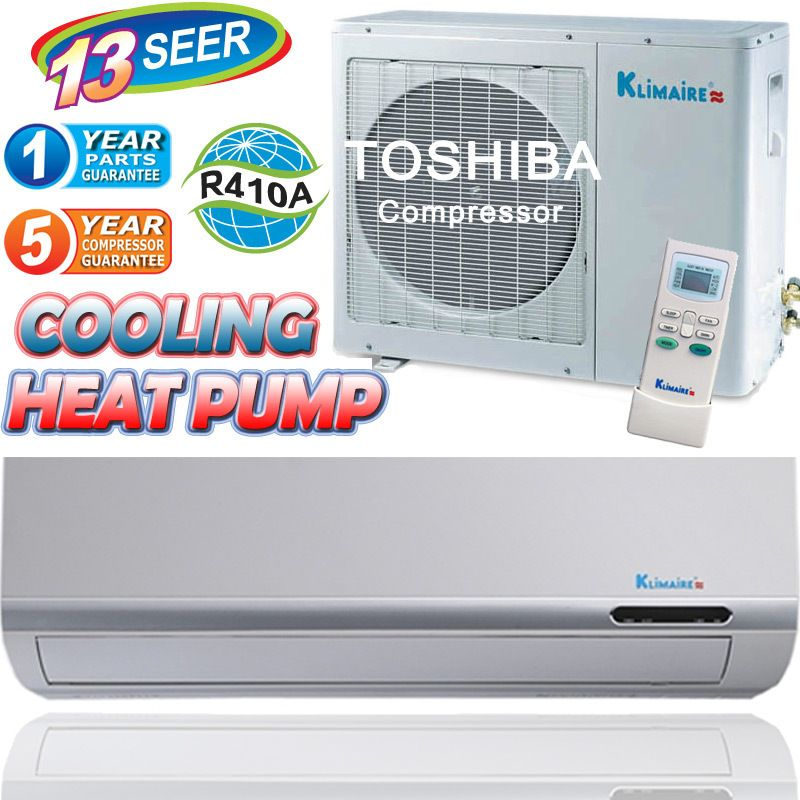 AC Mini Split Air Conditioner Heat Pump A C Heater 18 000 BTU