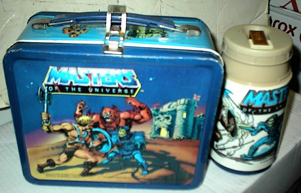 Vintage Aladdin He Man Masters of the Universe Metal Lunch Box w