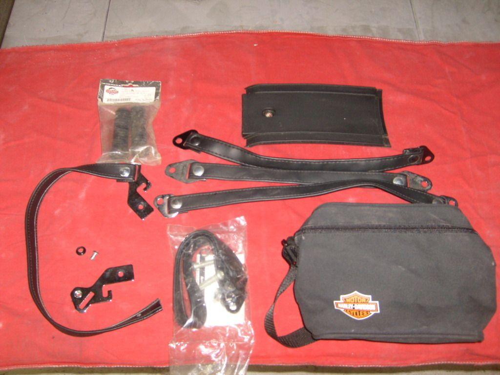Harley Davidson Bag Seat Strap Dash Panel Peg Covers Box Lot