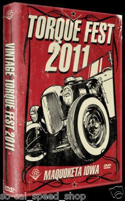 TORQUE FEST 2011 DVD HOT RAT ROD CUSTOM VIDEO MAGAZINE ART VTG CAR
