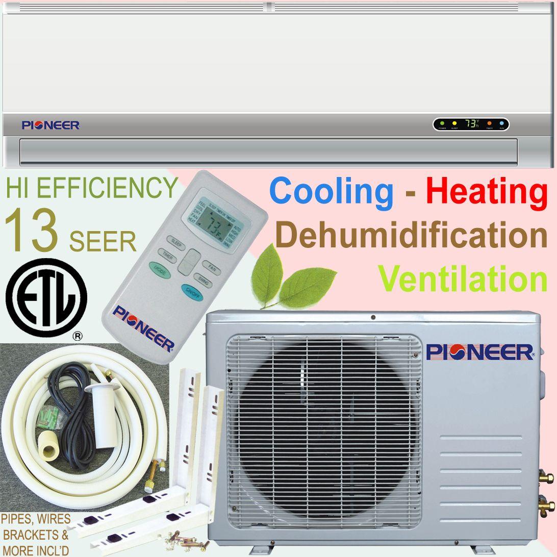 Pioneer Ductless Mini Split Air Conditioner Heat Pump incl Kit