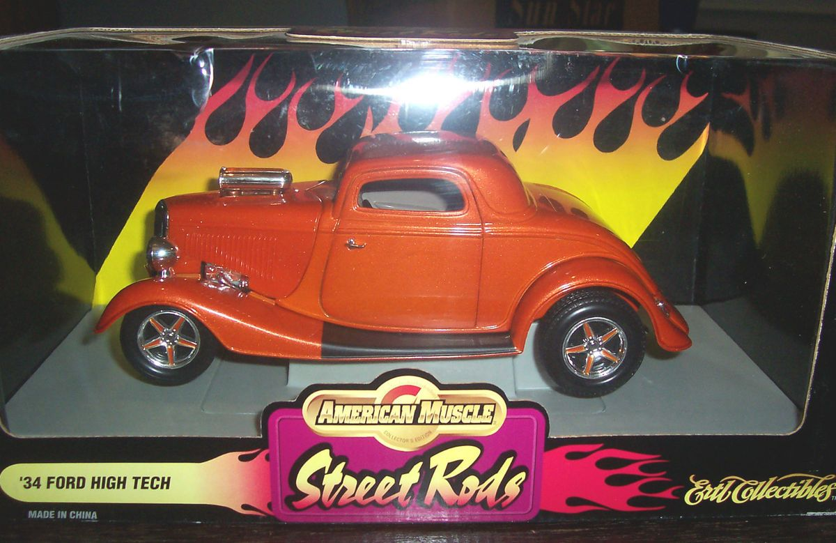 Ertl American Muscle 1934 Ford High Tech Street Rod 1 18 Scale Diecast