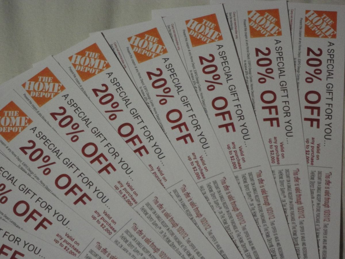 Home depot discounts and coupons