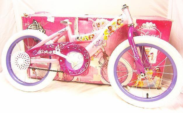 Huffy Disney Princess Girls 16 Bicycle Bike Shimmer Pink Glitter