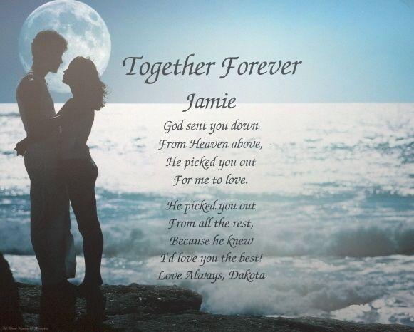 Personaized Love Poem Birthday Gift Idea Husband Wife Girlfriend
