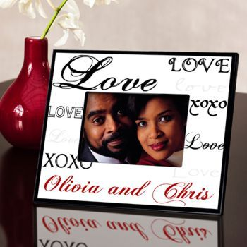 Valentines Day Love Heart Picture Photo Frame Gift Wood 7 Personalized