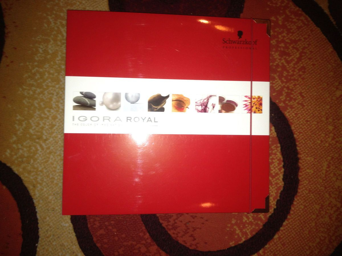 Schwarzkopf Professional Hair Color Swatch Book Igora Royal