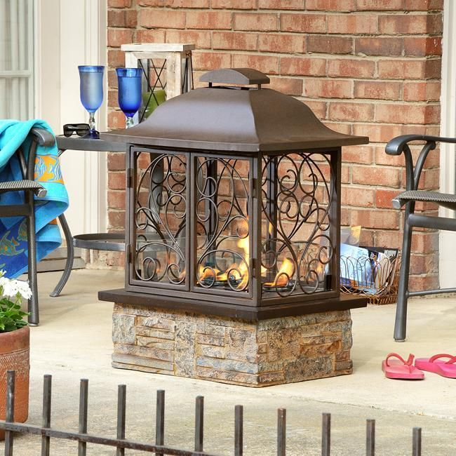Indoor outdoor portable gel slate fireplace new for Back to back indoor outdoor fireplace