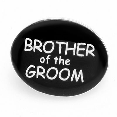 DAY BROTHER OF THE GROOM LAPEL PIN BADGE HAT PIN TIE TACK PIN BROOCH