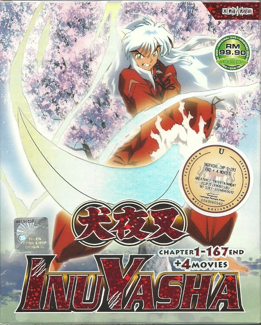 DVD InuYasha Complete TV Series EP 1 167END 4 Movies Anime New