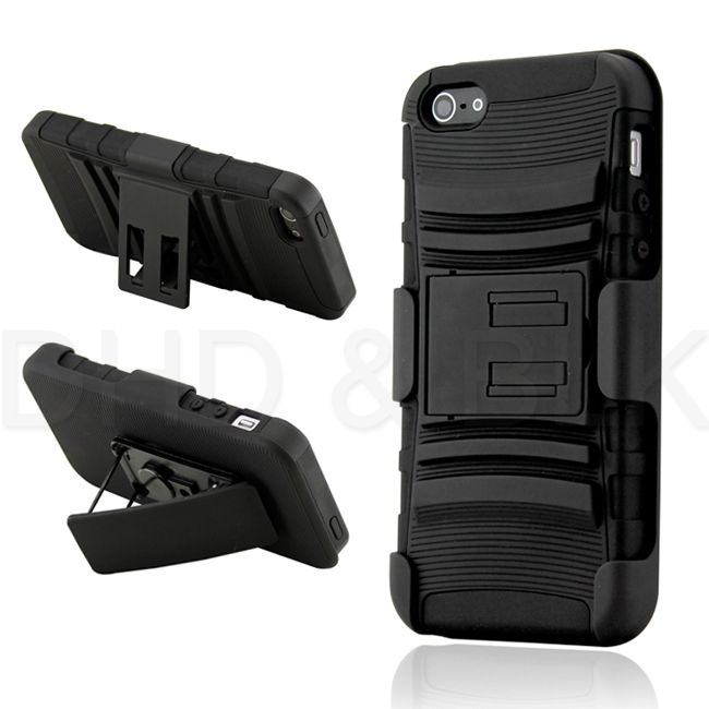 Hybrid Hard Case Cover Belt Clip Holster for Apple iPhone 5