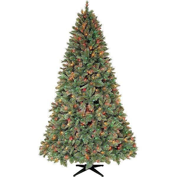 Slim 7 5 7 5ft Prelit Multi Color Lights Christmas Tree Pickup NJ