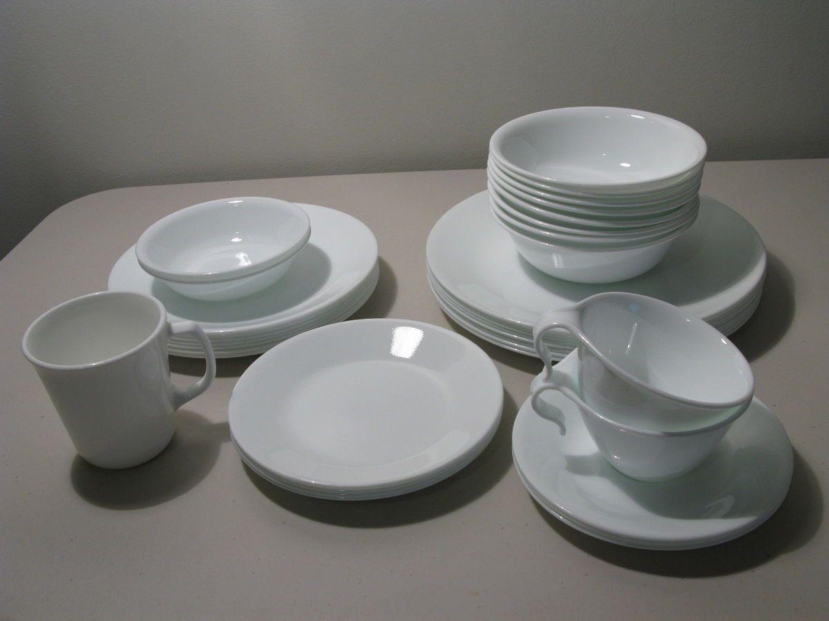 & Corelle Winter Frost White 35 PC Dinnerware Dishes