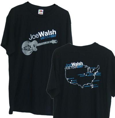 Joe Walsh Mens Black 2007 Tour Shirt Joe Walsh Analog Man Eagles