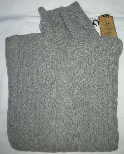 BORRELLI Napoli sweater gray cashmere wool size 40 R 50 EURO SIZE New