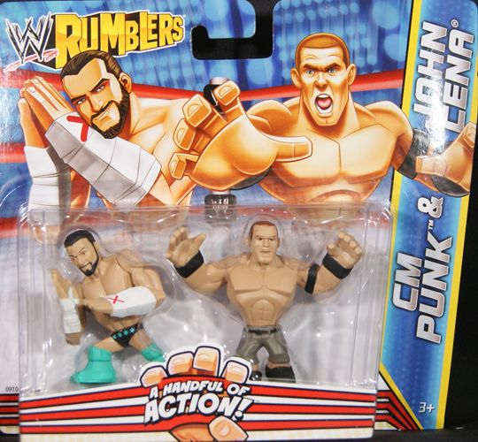 Cm Punk John Cena WWE Rumblers Toy Wrestling Action Figures