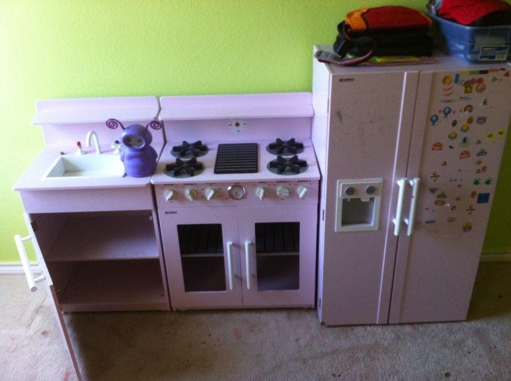 Kenmore Pink Vintage Kitchen Kids Pretend Play Set
