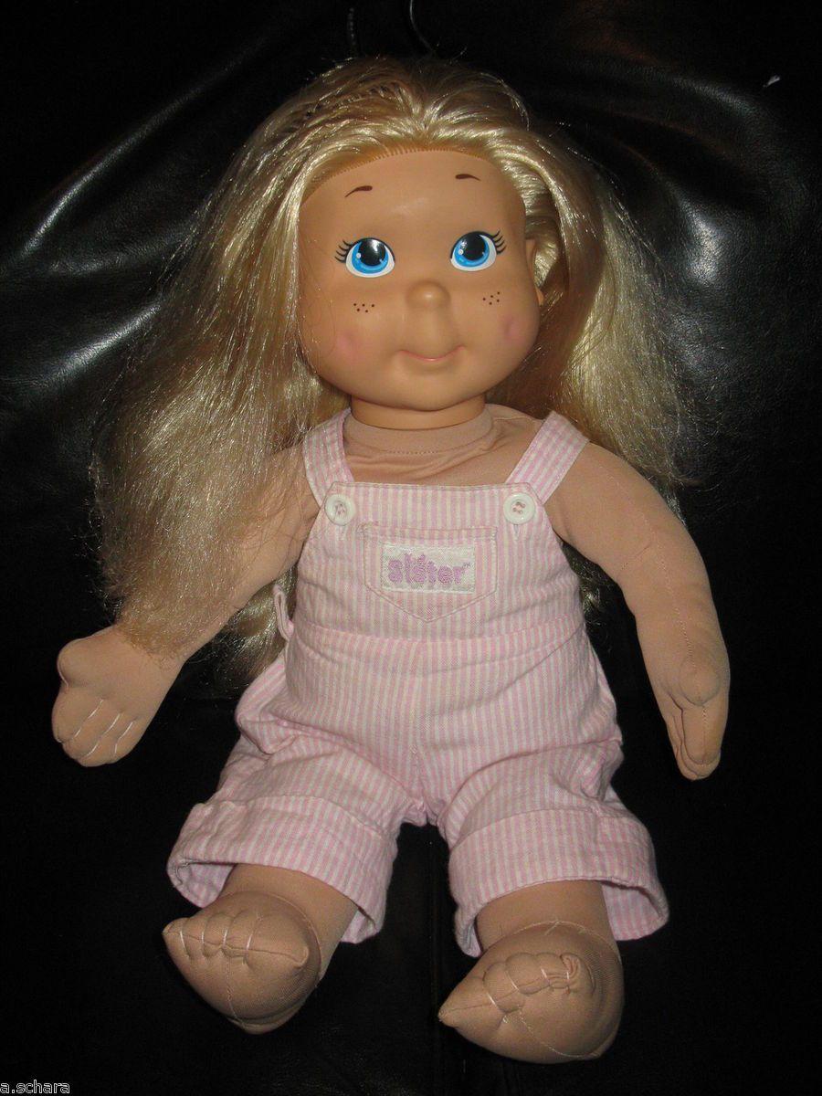 Vintage My Buddy Kid Sister Doll Pink Overalls 1986 Hasbro Playskool