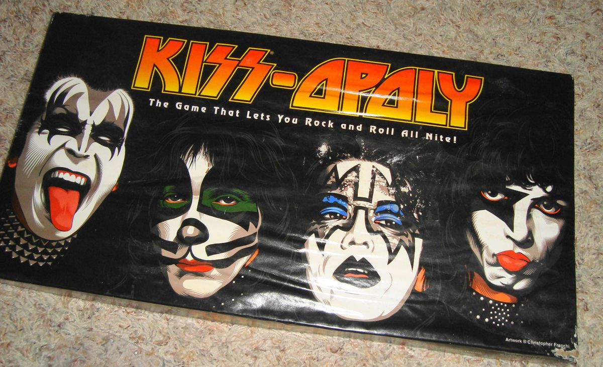 Kiss Opoly Rock Band Kiss Monopoly Board Game