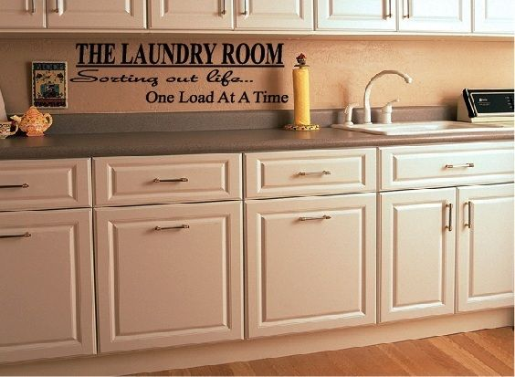 The Laundry Room Vinyl Wall Decal Quote Modern Home Decor Sticker