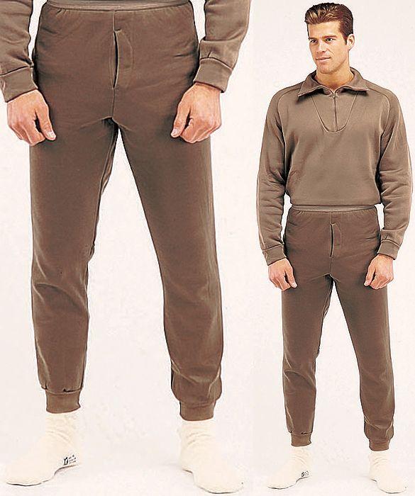 Polypropylene Brown Underwear Long John Thermal Bottom Pants