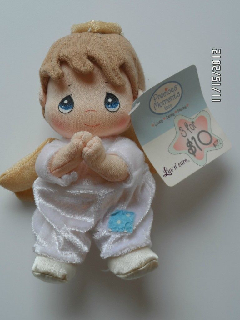 2003 Precious Moments Luv N Care 6 Praying Baby Angel Doll