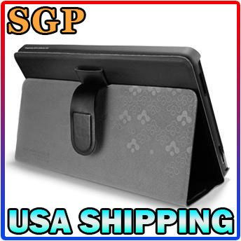 SGP  Kindle Fire Leather Case Stehen Series Black