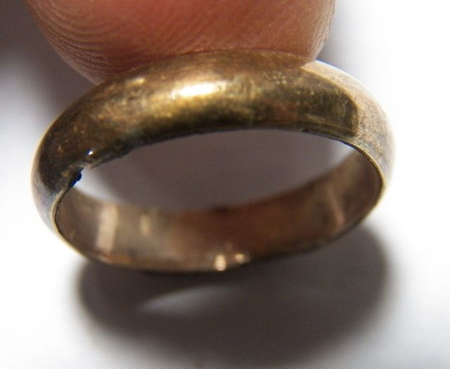 Civil War Soldiers Gold Plated Brass Ring Manassas