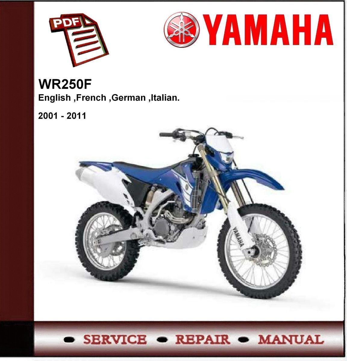 Yamaha Wr250 Wr250f 2001 2011 Workshop Service Manual Wiring Diagram