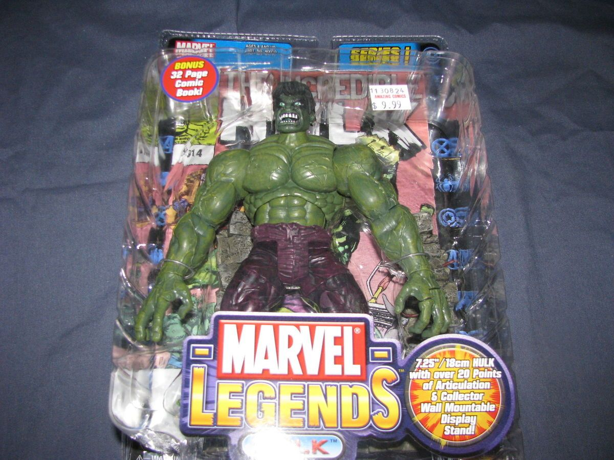 Marvel Legends Series 1 Hulk Toy Biz 2002 WOW