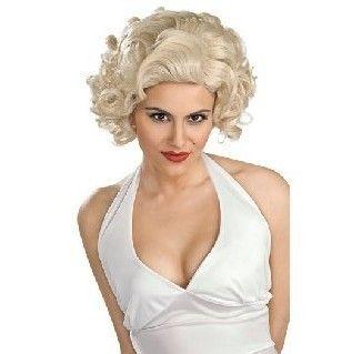 Marilyn Monroe Hollywood Star Legend Womens Blonde Curly Hair Wig