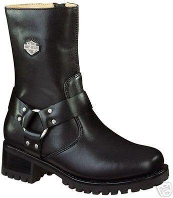 Womens Harley Davidson Ashby Harness Boots Black