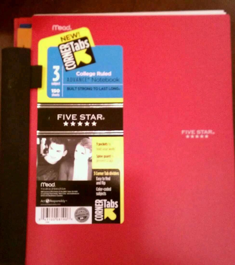 Red Mead Five Star College Ruled Advance Notebook 5 Subject