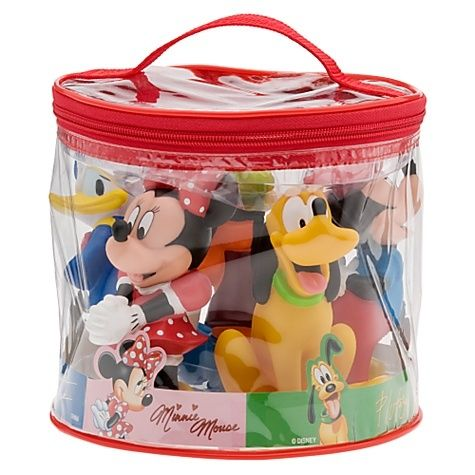 Disney Mickey Mouse Friends Bath Toys Pool Squeak Set