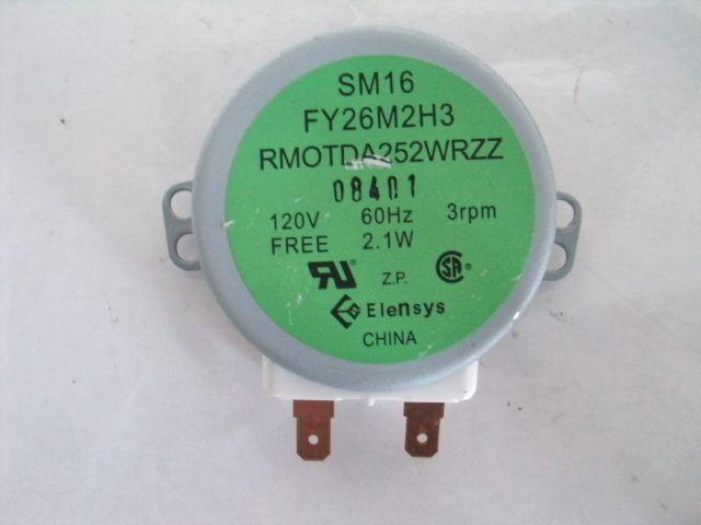 RMOTDA252WRZZ 120V 2 1W Microwave Turntable Motor Kenmore Sharp
