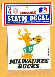 1990 Old Logo Milwaukee Bucks Decal Sticker Mint in Pkg