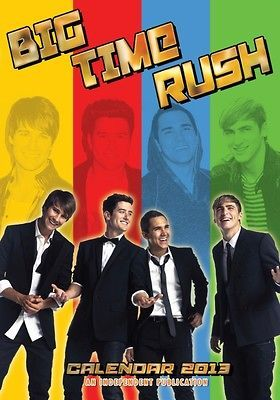 BIG TIME RUSH 2013 UK WALL CALENDAR BRAND NEW AND FACTORY SEALED