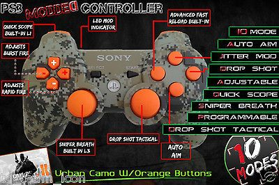 PLAYSTATION 3 PS3 MODDED ADJUSTABLE RAPID FIRE CONTROLLER 10 MODE