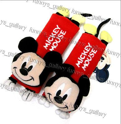 Mickey Mouse Baby Car Shoulder Pad Car Seat Belt Cover