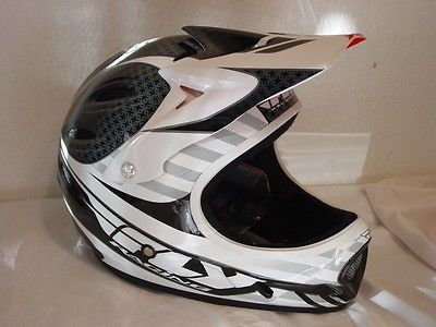 Fly Lancer Full Face BMX Helmet Size M Medium 56 58cm Black / White