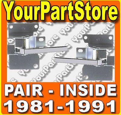 81 82 83 84 85 86 87 CHEVY GMC PU PICKUP TRUCK INSIDE DOOR HANDLE Pair