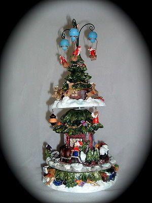 Christmas Tree Music Box Ceramic, Rotating