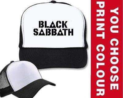BLACK SABBATH TRUCKER CAP HAT heavy metal rock OZZY