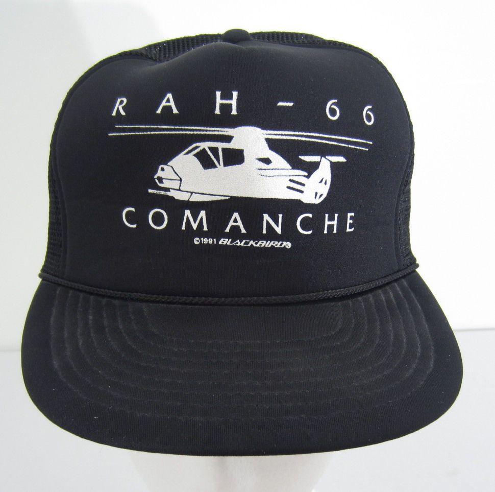 Vtg. RAH 66 Comanche Army Helicopter Snapback Trucker Hat Baseball Cap
