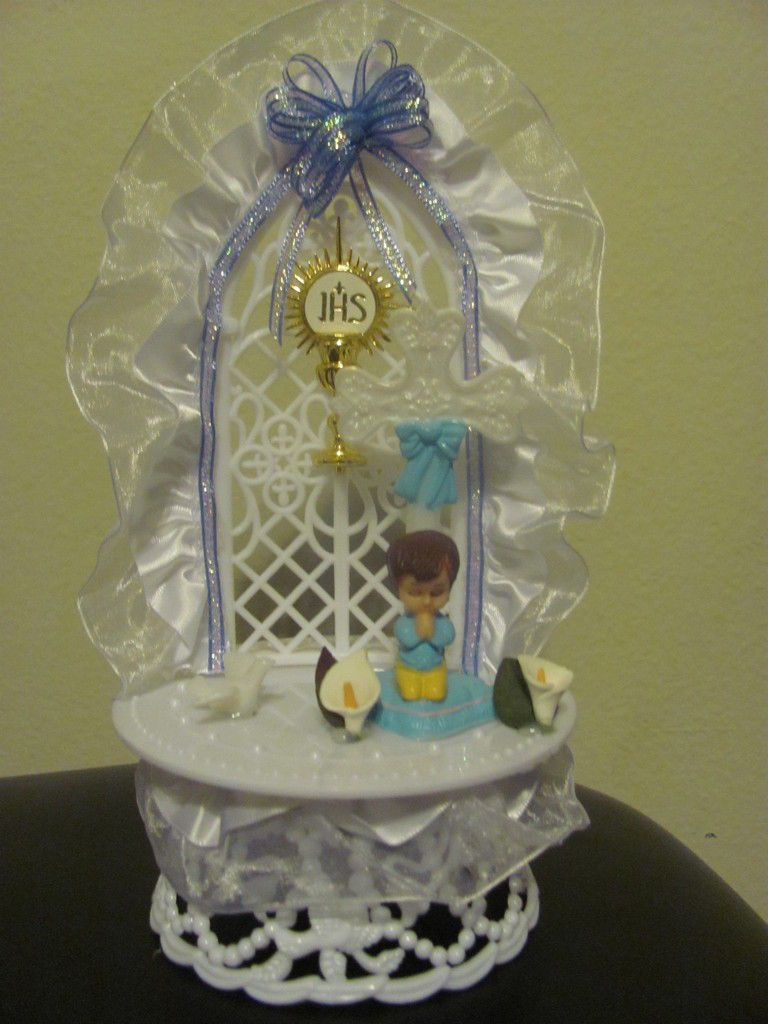 Baptism / First Communion cake topper / centerpiece