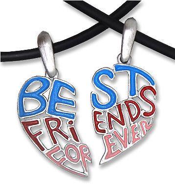 Light Cut Out   Best Friends Forever BFF Split Heart Friendship