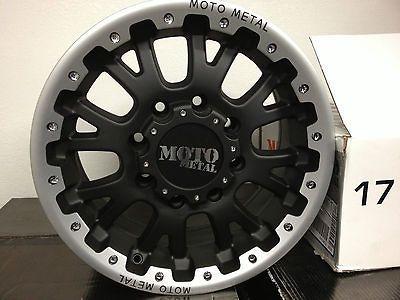 17 Inch Black Moto Metal Wheels Rims Ford Super Duty F250 F350
