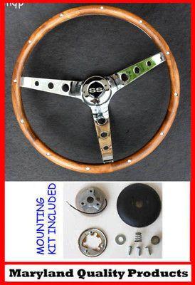 1964 66 Chevy Nova Impala SS GRANT Wood walnut Steering Wheel 15